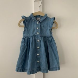 Toddler Girls Denim Shirt Dress